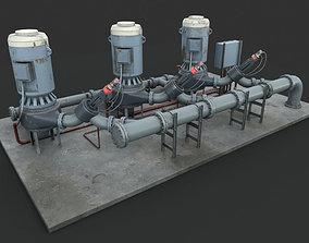 Machinery device Pump station 3D PBR