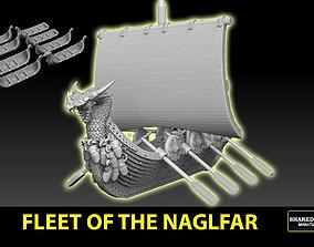 3D printable model Fleet Of The Naglfar 8 Ships