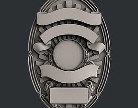 3d STL models for CNC router Badge