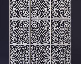 3D Decorative carved panel