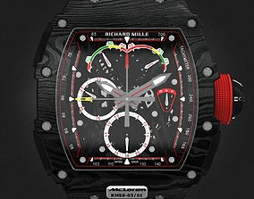 Richard Mille RM 50-03 Watch With Black 3D model