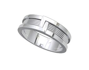 Wedding Band Ring For Men STL File ready For 4