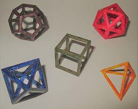 3D print model Platonic Solids