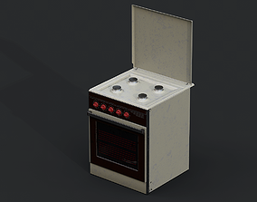 3D model game-ready Stove