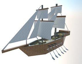 Ship- 3D asset