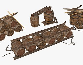 Wooden Storage Assets Collection 01 3D