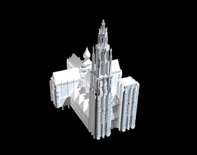 Cathedral christian 3D model