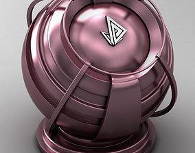 3D model VRAY SHADER---METAL---Purple Plague