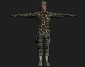 Commandos Pack 9 Military Commando Characters 3D model