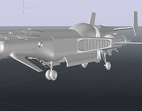 Aerospace fighter 3D printable model