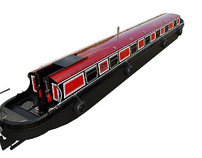 English Canal Boat 02 3D asset