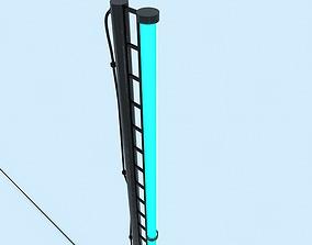Lantern with blue color 3D asset