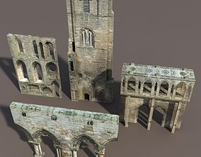 Castle Ruin Pack Low poly 3d Model low-poly