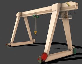 PBR Single Girder Gantry Crane V1 - 3D asset