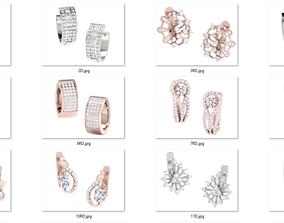 59 Women Bali Earrings 3dm stl render details bulk 1