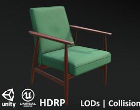 3D model Soviet Armchair Lisek Green