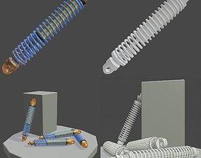 shock absorber 3D model low-poly