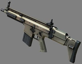 3D model Weapon Scar-H Very hight