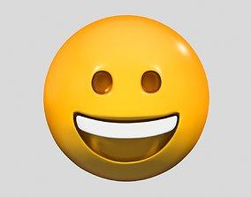 3D Emoji Grinning Face san