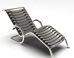 Modern Metallic Patio Chair 3D