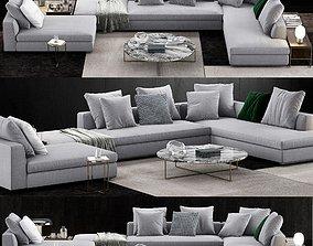 3D Minotti Powell Sofa