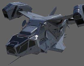 3D model Space Ship C