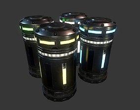 Sci-Fi Power Cell 3D asset