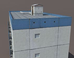 Residential Building skyscraper 3D asset game-ready