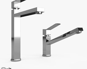3D model Tre and Tre Alto Mixer Taps by Foster modern
