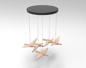 Hanging Birds 3D asset