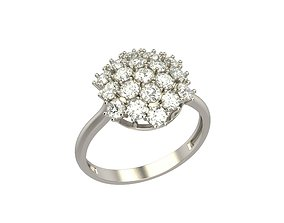 Women ring with gems 3dm stl jewelry