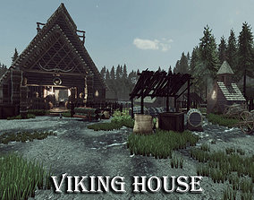 Viking House 3D asset low-poly