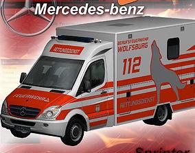 Mercedes-Benz Sprinter Wolfsburg 3D asset game-ready