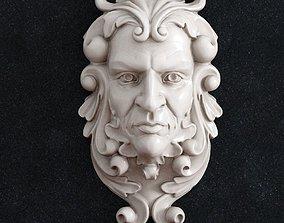 Decor face 3D printable model