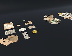 Debris set 3D asset