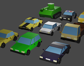 Low Poly Vehicles 3D asset realtime