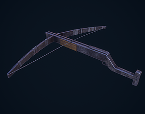 3D asset low-poly Crossbow