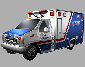 Ambulance 3D asset VR / AR ready