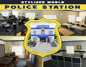 Police Station Stylized 3D asset