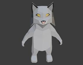 Low Poly Lynx 3D model low-poly
