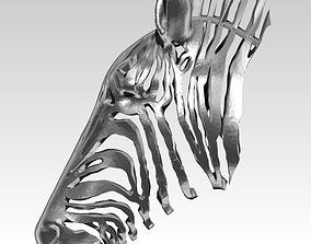 Wireframe zebra pendant 3D printable model