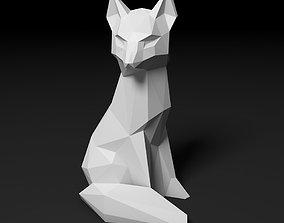 paper 3D print model Fox low poly