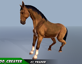 Horse Rigged-Animated 3D Model animated PBR