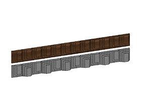 Contemporary frieze panels for plaster 3D print model 2