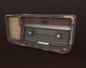Old analog radio receiver 3D model
