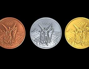 Generic Olympic medal 3D model