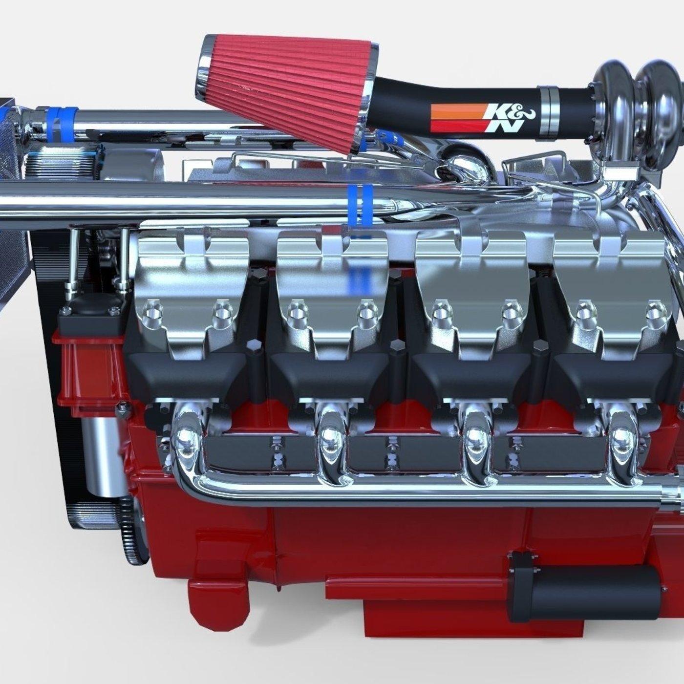 V8 TurboDiesel Modeled in Rhino 5!