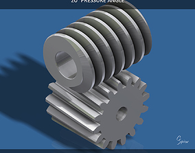 3D print model Custom Worm Gear Collection 01
