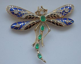 3D printable model Dragonfly brooche