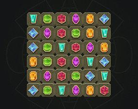 3D model Crystals game